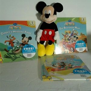 Other - Mickey collection three books and plush
